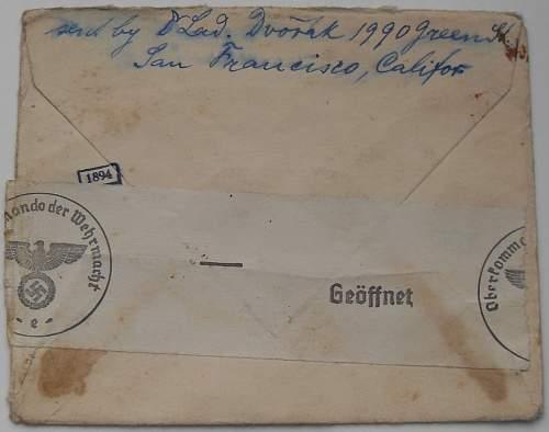 Oberkommando der Wehrmacht censored post