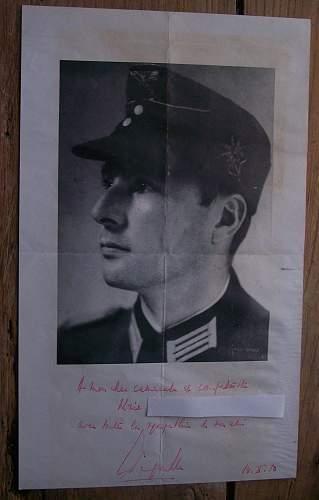Leon Degrelle's signature