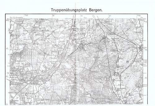 Large map of Truppenubungsplaz Bergen
