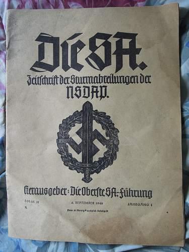 Click image for larger version.  Name:Die SA Zeitschrift der Sturmabteilung der NSDAP -  6.9.1940 (front).jpg Views:1404 Size:251.2 KB ID:297243