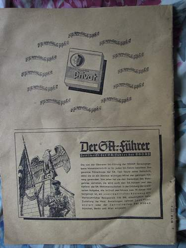 Click image for larger version.  Name:Die SA Zeitschrift der Sturmabteilung der NSDAP -  6.9.1940 (rear).jpg Views:314 Size:245.8 KB ID:297244