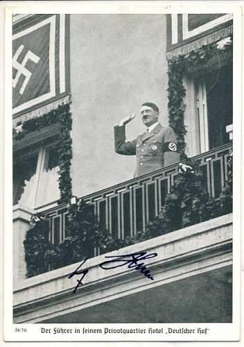 Authentic Hitler autograph?