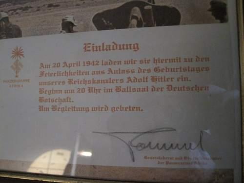 Rommel DAK Einladung