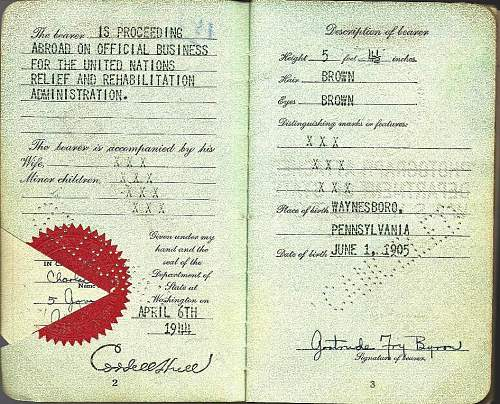 post-war passport - relief in Germany and Europe...