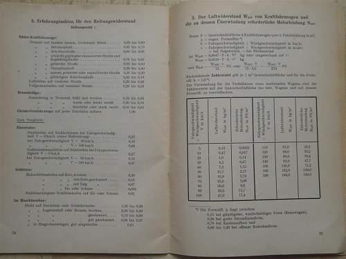 Formeln zur kraftfarzeug-mechanik, kraftfahrtechnische lehranstalt der SS - Wien