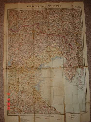 Map of Norther Italy my grandfather used before his surrender to the Allies in 1945.