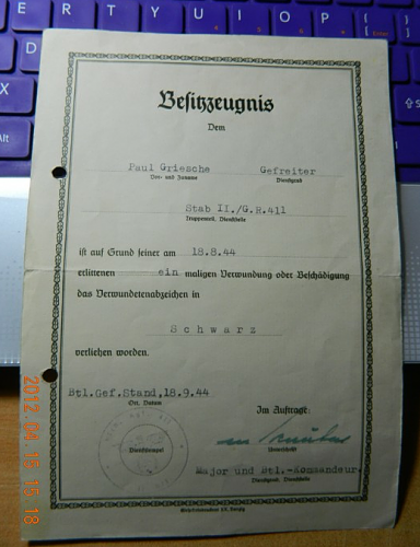 one soldier's honor, some documents