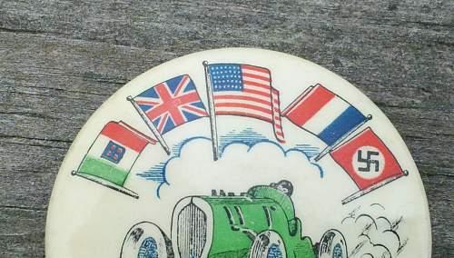 1937 George Vanderbilt  Cup Race event pin