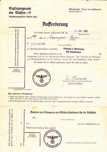 Waffen SS - Field Post