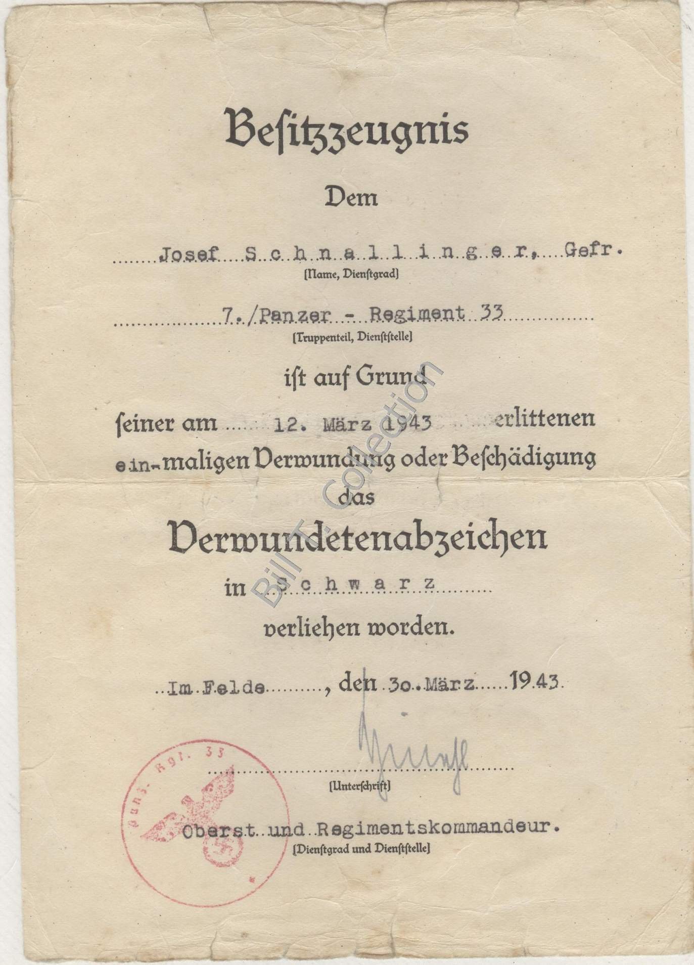 Share your Panzer Related Award Documents (Verleihungsurkunde) - Page 2