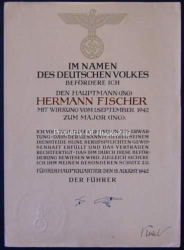 Share your Panzer Related Award Documents (Verleihungsurkunde)