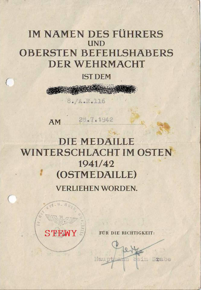 Share your Panzer Related Award Documents (Verleihungsurkunde) - Page 5