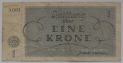 Theresienstadt banknote first series