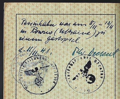 German unit in Rowno, November 1941...signature