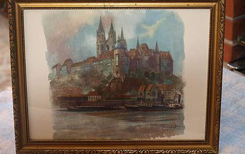 Watercolor Akvarell Photo ADOLF HITLER SIGNED Is it REAL?