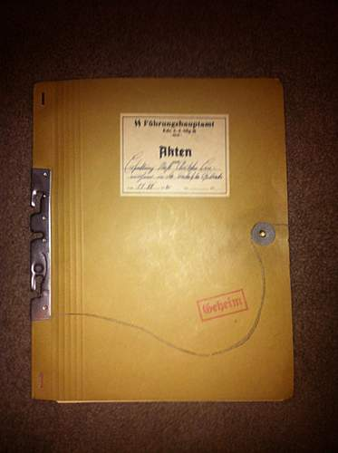 "MUST SEE!!SS Main Office ""fuhrungshauptamt"" folder! value? contant? rarity?"