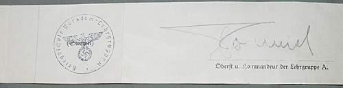 Rommel signature