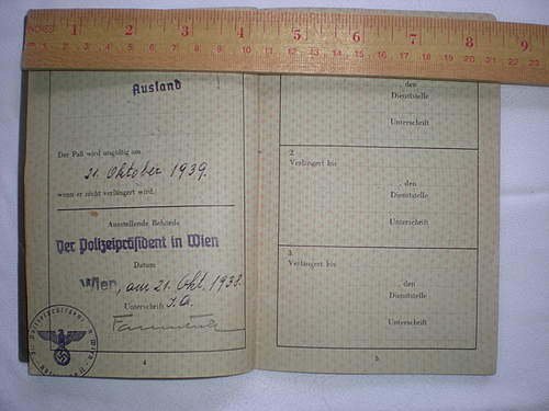 """WWII German JEWISH Passport REISEPASS Red """"J"""" on first page QUESIONS..."""