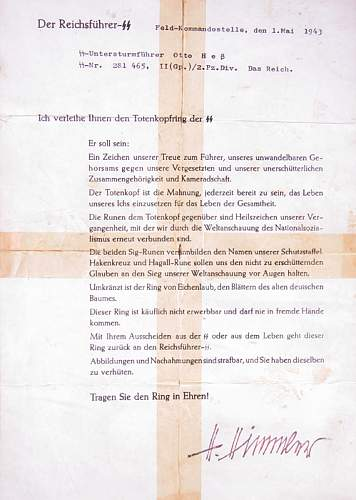 SS Honour Ring Document