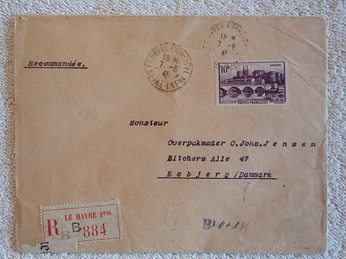 Just a nice cover send from Paris to Denmark