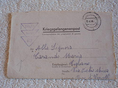 Click image for larger version.  Name:Kriegsgefangenpost with prisoner nr  308437 in italien front.jpg Views:731 Size:217.2 KB ID:396583