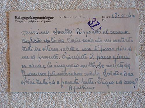 Click image for larger version.  Name:Kriegsgefangenenpost with prisoner nr 05285 back.jpg Views:471 Size:219.6 KB ID:396591