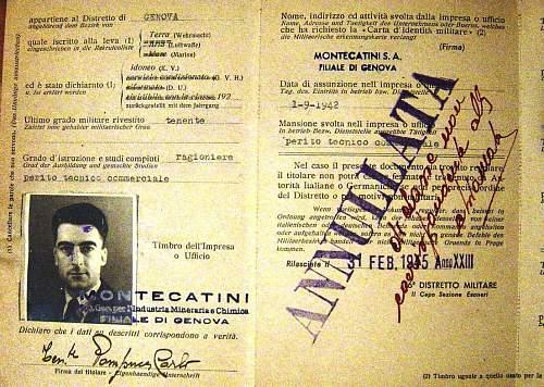 Italian ID in North Italy 1945