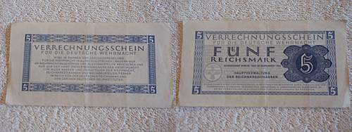 Click image for larger version.  Name:Funf Reichsmark verrechnungsschein für die deutsche wehrmacht 1944.jpg Views:341 Size:235.6 KB ID:397290