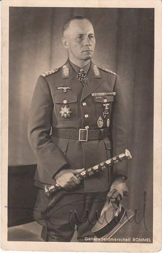 My last attempt to own a Rommel signed photo!!!!