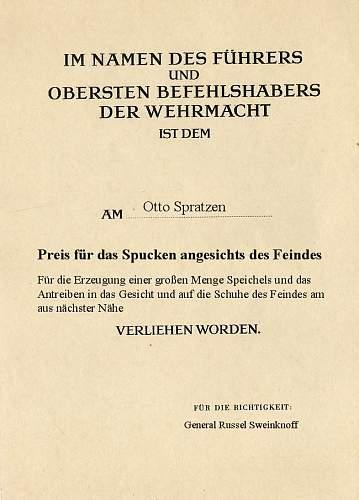 Rare Award Document