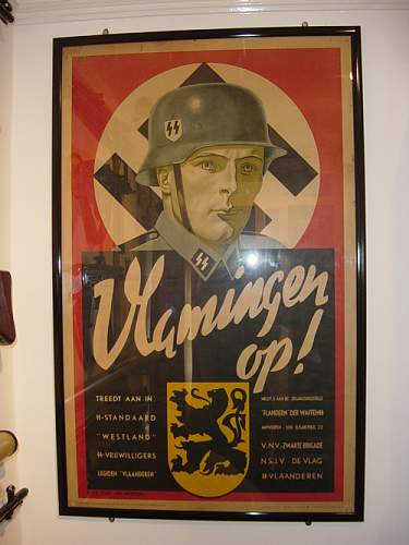Flemings Up! Waffen SS recruiting poster