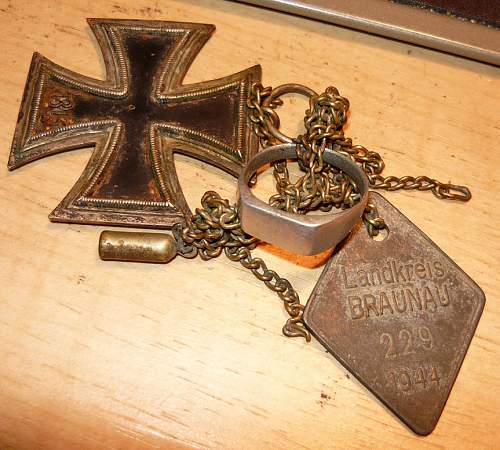 New Collector Help Identify Iron cross and dog tag?