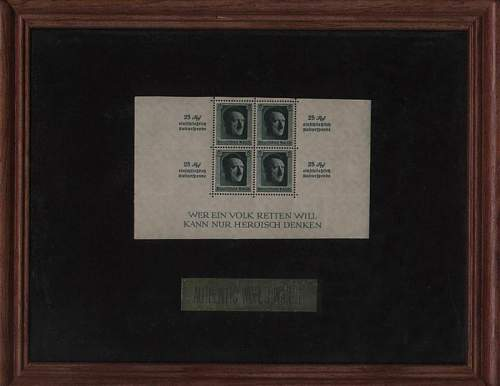 Stamps: four block of Hitler