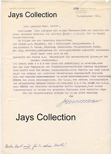 Manteuffel Letter