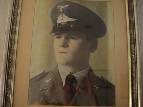 luftwaffe framed portrait