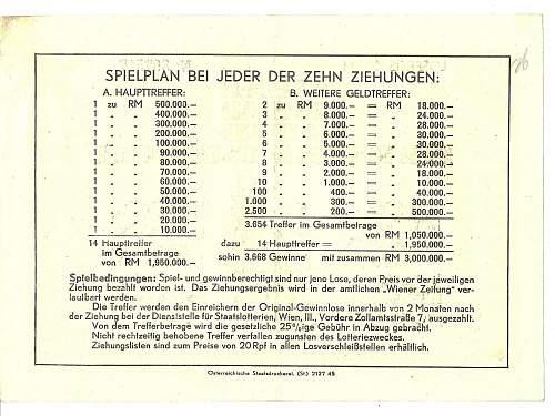post-war lottery ticket - passport watermark