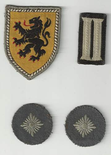 German documents and possibly badges?