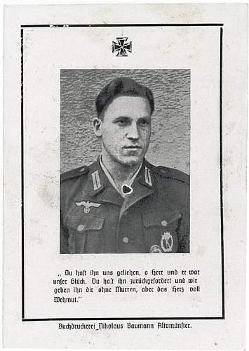Death card Ardennes