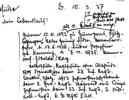 Click image for larger version.  Name:Eicke_Lebenslauf_15._März_1937.JPG Views:293 Size:89.7 KB ID:447596
