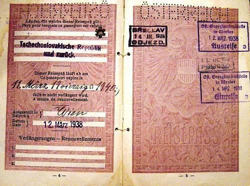 Austrian passport 1938...