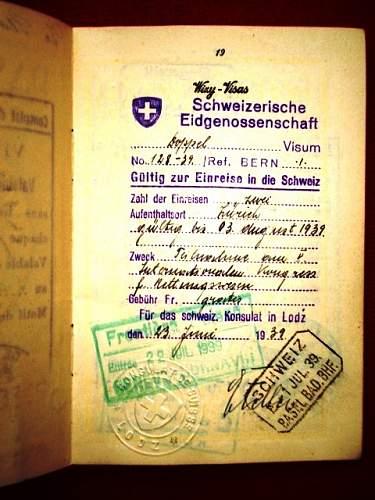 German writing in Polish passport