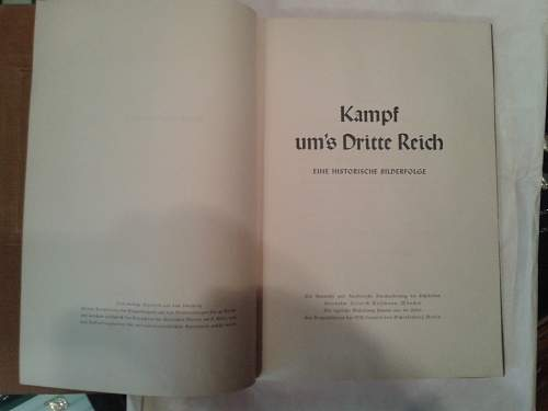 Pre war German book: Kampf ums Dritte Reich