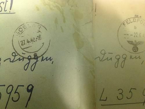 First SS feldpost - Das Reich