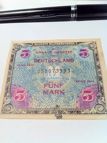 Dutch occupation money