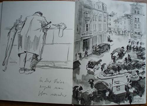 WWII German Soldier Sketch Book - 1941