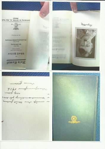 1936 Adolf Hitler Mein Kampf SIGNED ADOLF HITLER