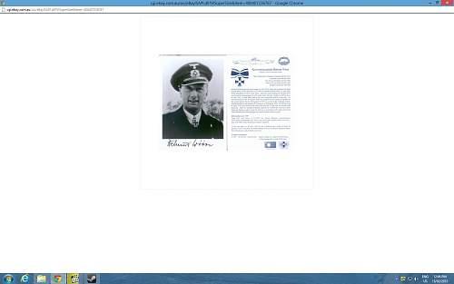 Signed U boat Photo