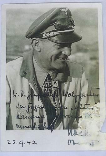 Luftwaffe signed photo