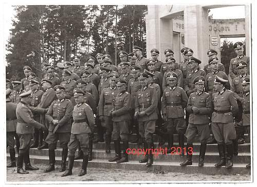 Photo of the officers from 4th Panzer Group taken in 1941 in Allenstein