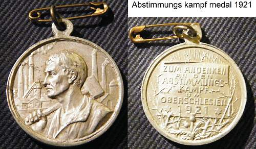 Click image for larger version.  Name:Abstimmungs kampf medal 1921.jpg Views:217 Size:285.1 KB ID:475297